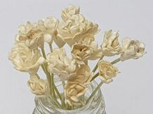 IVORY GYPSOPHILA / FORGET ME NOT (Single Layer) Mulberry Paper Flowers